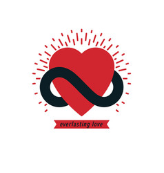 Timeless love concept symbol created with vector