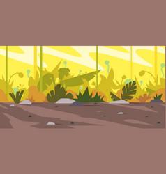 jungle game background landscape vector image