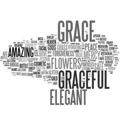 Graceful word cloud concept vector