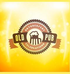 Beer festival oktoberfest celebrations vintage vector