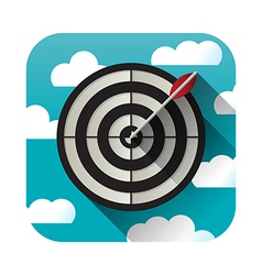 Target practice icon vector
