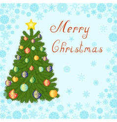 Christmas tree 1 vector