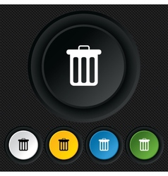 Recycle bin sign icon bin symbol vector