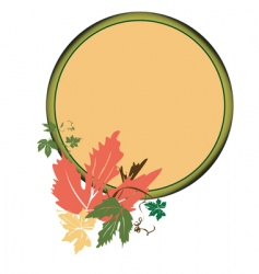 Autumn medallion vector