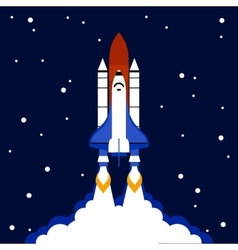 Launch concept space rocket background vector