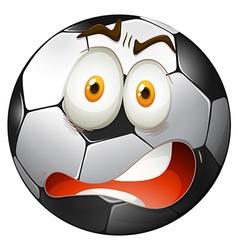 Startled facial expression football vector