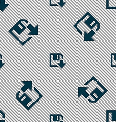 Floppy icon flat modern design seamless pattern vector