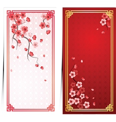 cherry blossom template4 vector image