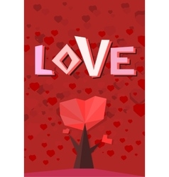 Heart trees vector