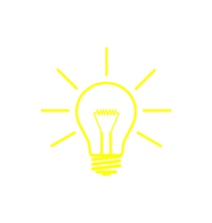 bulb yellow vector image