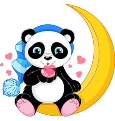 Panda on the Moon vector image
