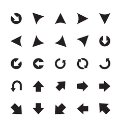 Mini arrows icons 6 vector