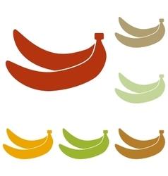 Banana simple sign vector