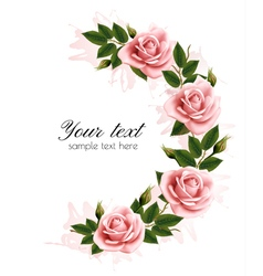 Holiday background with beauty flowers vector