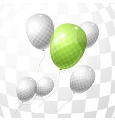 Flying balloons background vector