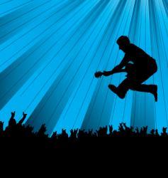 band jump vector image vector image