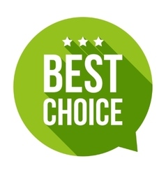 Best Choice speech bubble vector image
