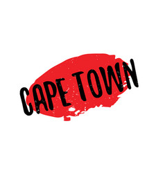Cape town rubber stamp vector