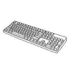 Cartoon image of keyboard icon vector