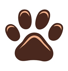 Cat paw print vector image vector image