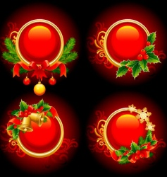 Christmas buttons vector