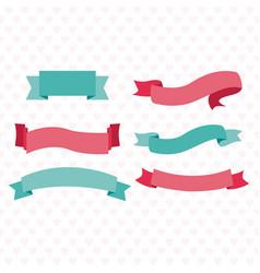 cute ribbon banners vector image