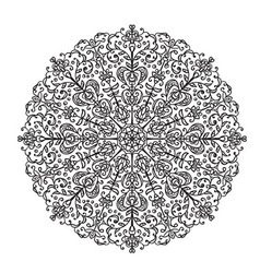 Decorative lace ethnic element vector image vector image