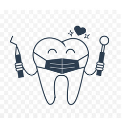dentist concept in the form of a tooth vector image vector image