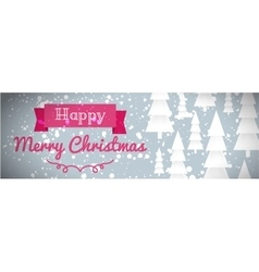 Greeting card of happy Merry Christmas vector image