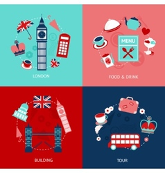London decorative set vector