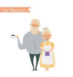Lovely elderly couple vector