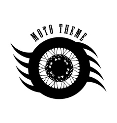 Moto wheel logo symbol vector