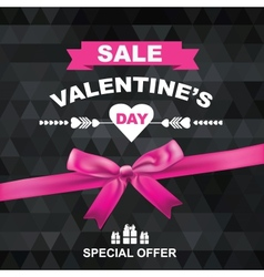 Poster Valentines Sale vector image vector image