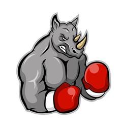 Rhino boxer vector