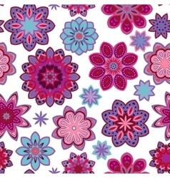 Seamless flower retro pattern in Purple vector image