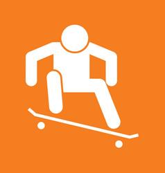 Skateboard ollie sport figure symbol graphic vector