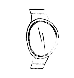 Sketch smart watch wearable technology digital vector