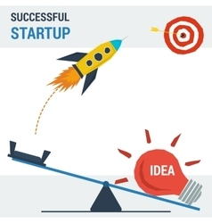 Successful start up concept vector