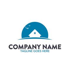 unique house logo vector image