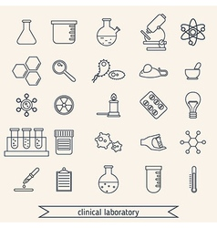 Clinical laboratory icons set vector