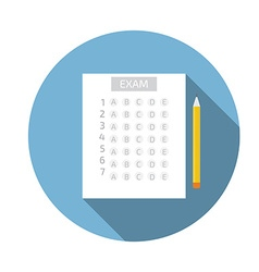Test answer sheet icon vector