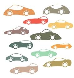 Set of cartoon futuristic cars vector