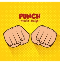 Boxing championship punch isolated vector