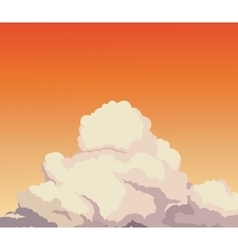 sky sunset cloud design graphic vector image