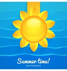 Summer background with the sun vector image