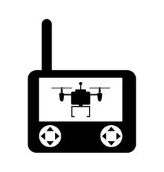 Drone remote control isolated icon vector