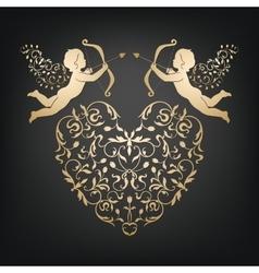 Valentin classic decorative card vector image