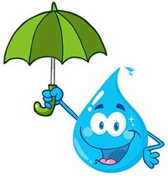 Water Drop With Umbrella vector image