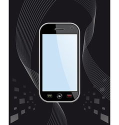 Generic smart phone on black vector