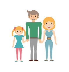 Couples family daughter vector